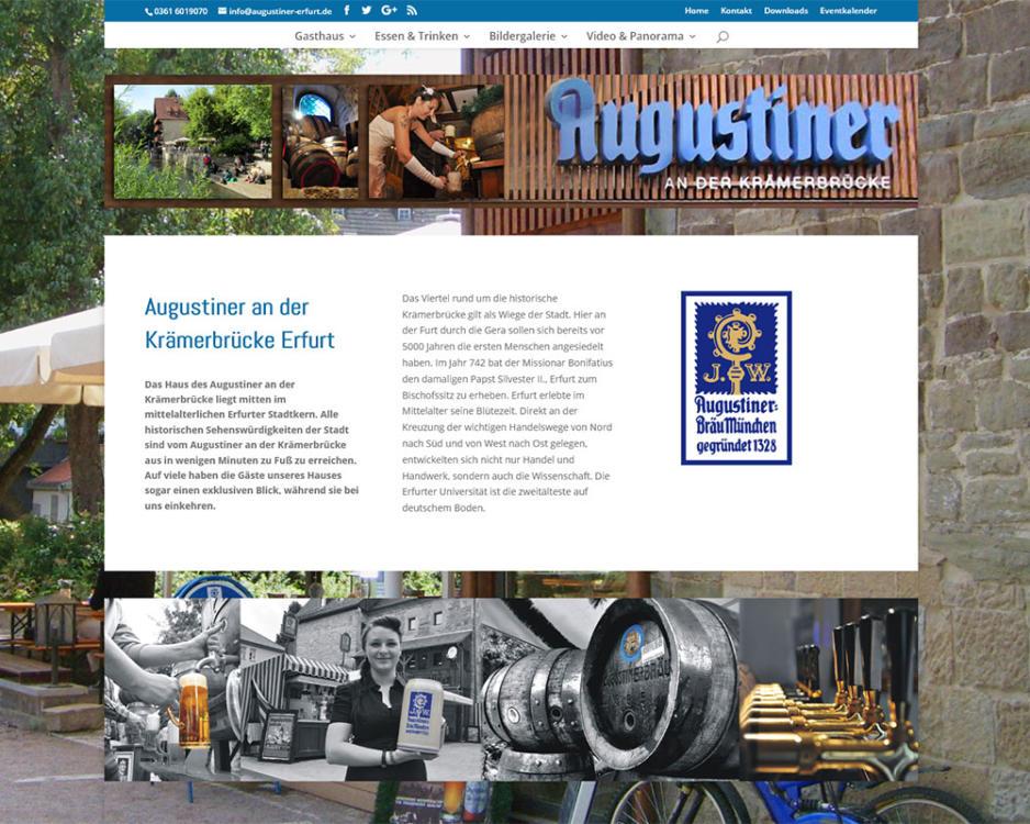Homepage Internetseiten Webpräsenz Augustiner an der Krämerbrücke Erfurt