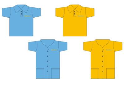 Berufsbekleidung Pflegebienen (Pflege mit Leidenschaft)