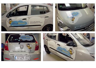 schneider.media Design Fahrzeugwerbung Pflegebienen
