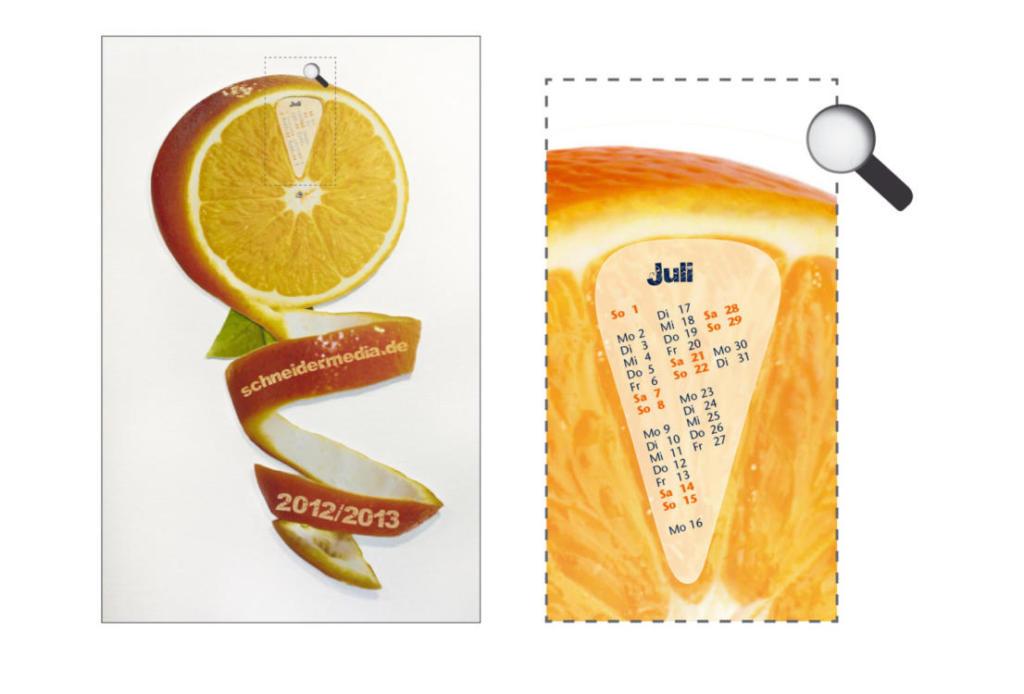 schneider.media Produktdesign Kalender Freiform