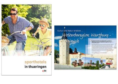 schneider.media Grafikdesign Imagebroschüre Sporthotels in Thüringen