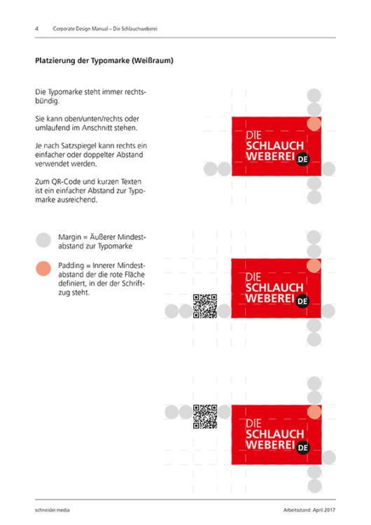 Kommunikationsdesign Wortmarke DIE Schlauchweberei für Feuerwehrschläuche