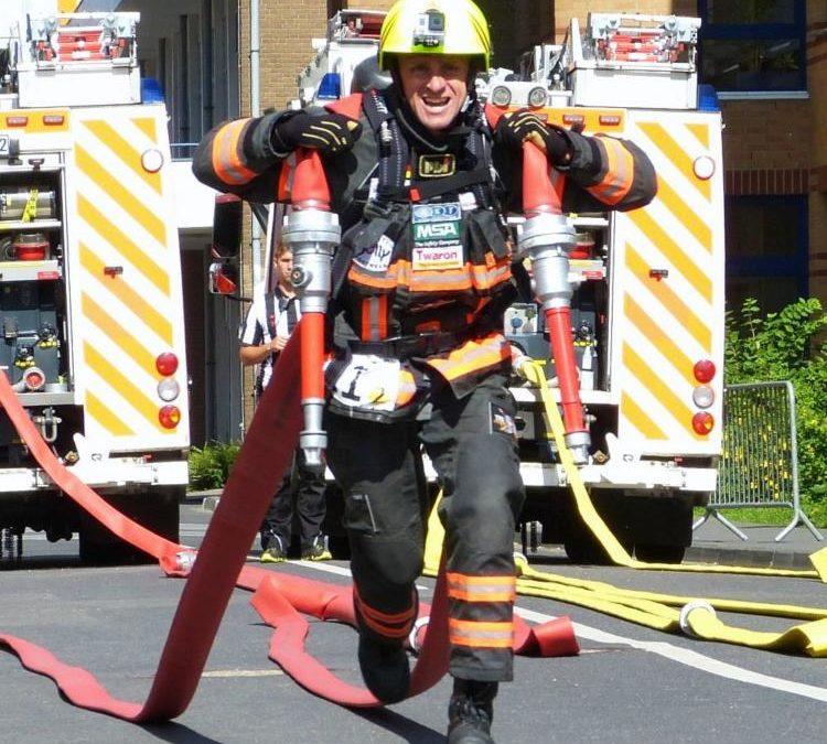 Videoaufnahmen Firefighter Weltmeister Joachim Posanz für Feuerwehrschlauch