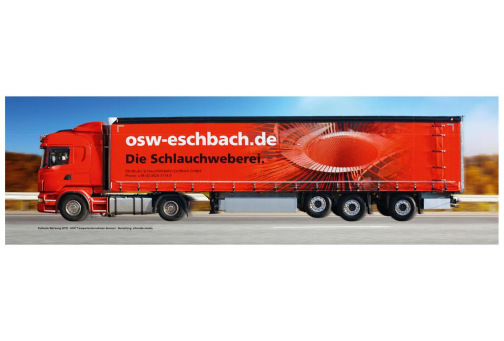 schneider.media Design Fahrzeugwerbung OSW Truck