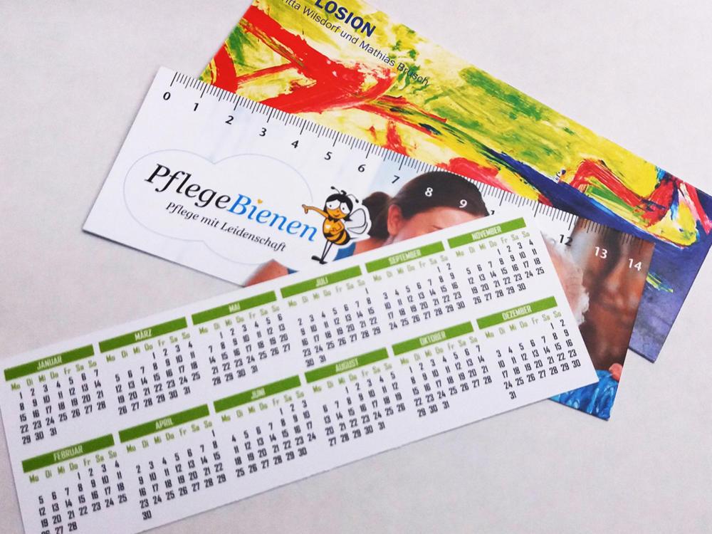 schneider.media Werbeartikel Lineal Kalender Lesezeichen