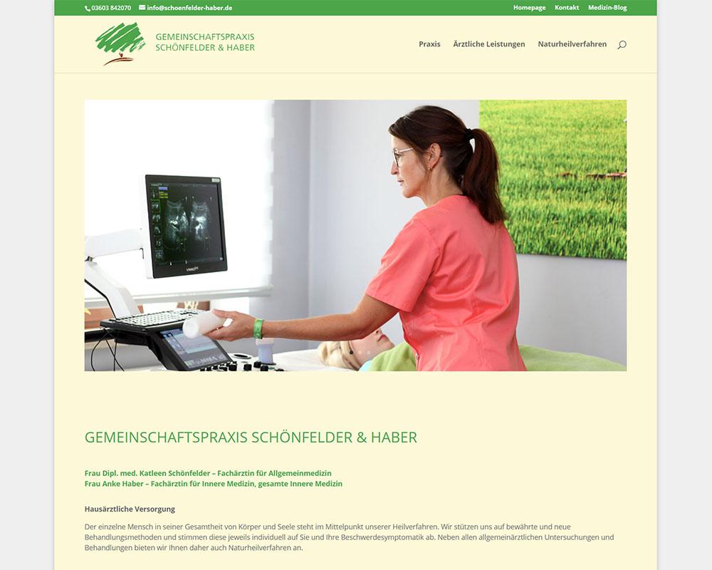 Webdesign Homepage Webpräsenz Arztpraxis Schönfelder & Haber