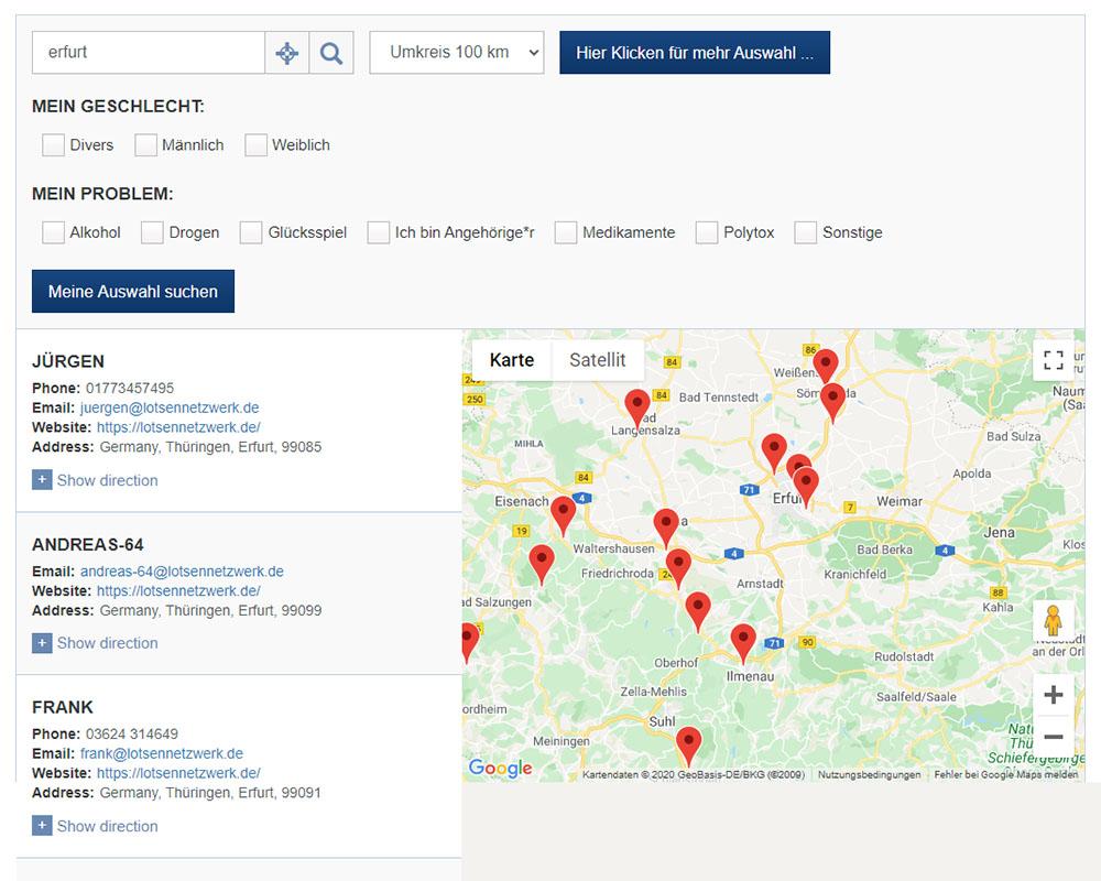 Webdesign Homepage Webpräsenz fdr Lotsennetzwerk Erfurt