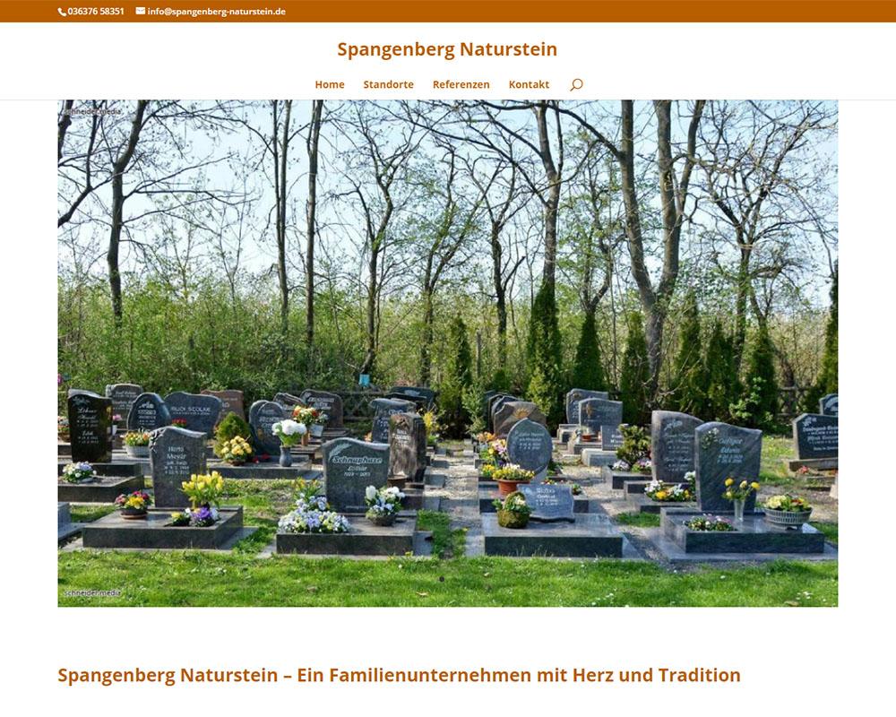 Webdesign Homepage Webpräsenz Naturstein Spangenberg